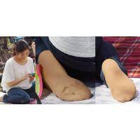 【足裏】健康的で可愛い若ママさんが蒸らして汚したパンストの足の裏