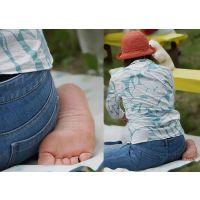 【足裏】むちむちしたカラダのママさんの足の裏