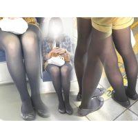ホームで見掛けた可愛い女子大生を追跡...タイツに包まれた美脚を執拗に激写...