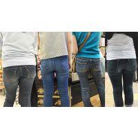 【ママ尻】沢山履き込んで汗だくジーンズの奥さんたち