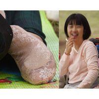 【足裏】性格良くて優しそうな若奥さんの蒸れたフットカバーの足の裏