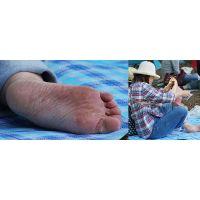 【足裏】むちむちした色白奥さんの恥ずかしいガッサガサの足の裏