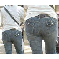 可愛い若ママは張り裂けそうなジーンズの中でたっぷりの尻肉がユサユサ揺らす...