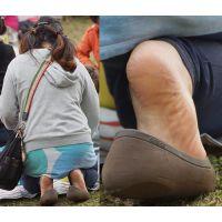 【足裏】むちむちしたカラダの可愛い若奥さんの角質ガサガサの足の裏