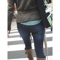 ムッチムチポケット無しジーンズ巨尻