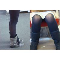 女子大生のお姉さんのブーツ&タイツ