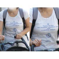 まん丸美巨乳が歩くたびにプルンプルン揺れる可愛いママさん