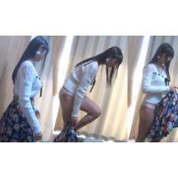 【盗撮】黒髪かわいい巨乳清楚系美少女の着替えを盗撮!