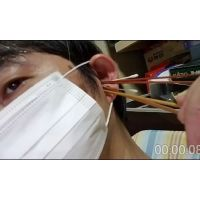 (無料動画)猿耳オトコのセルフ耳拷問をダイジェストでどうぞ!♪