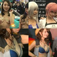 【東京オートサロン2017】セクシーコンパニオンの360度写真+高画質写真【THETA】