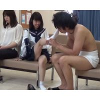 Clinic with 'male examination' (High school girl's handjob)