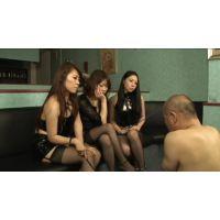 【手コキ】S女3人冷酷な視線と激烈手コキ【集団】