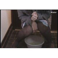 恥ずかしいおもらし� 洗面器に3連発
