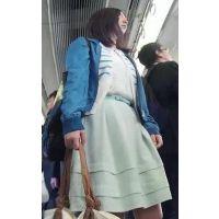 【逆さpart14】人形みたいな可愛いOL!電車内逆さ!