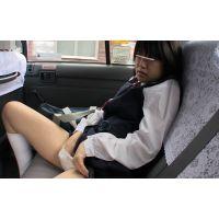 ◆素人投稿動画 黒髪ショートのオタク女子 ひな(18歳) ロ●ロ●です! file01 タ●●ーの中でオナニーとフェラ!◆本編目