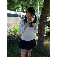 ◆素人投稿動画 ツインテールのロ●学生まゆ(18歳)可愛いです!file01 制服でプチ露出&ご奉仕 ◆本編目線無し