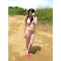 ◆素人投稿動画 巨乳でパイパンのアニオタ●女なぎさ(18歳)可愛いです!file03b 野外で全裸!野外オナニー!◆本編目線無し