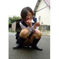 ◆素人投稿動画 黒髪ショートの●リっコを野外でいじめてやりました!file02 ローターを挿入してお散歩!&野外でアナル舐め!◆