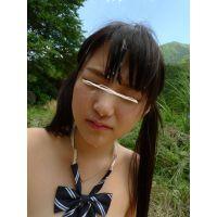◆素人投稿動画 ツインテールのロ●学生まゆ(18歳)可愛いです!file07 野外でセックス!顔射してそのまま放置!◆本編目線無