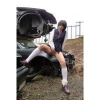 ◆素人投稿動画 黒髪ショートのオタク女子 ひな(18歳) ロ●ロ●です! file03 野外オナニー&バイブ責め!◆本編目線無し