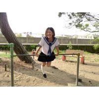 ◆素人投稿動画 黒髪ショートの●リっコ、露出クルーズで大絶叫!可愛いです!file01 セーラー服でプチ露出!公園で遊びます。◆