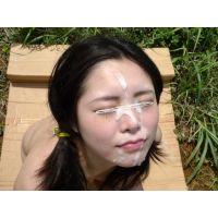 ◆素人投稿動画 巨乳でパイパンのアニオタ●女なぎさ(18歳)可愛いです!file05a 野外で大量顔射!ベトベトの顔で放心状態!