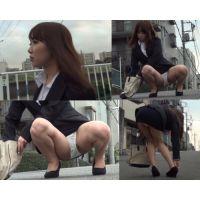 【OL超ミニスカリクスーパンチラ動画9】美脚生脚パンプスで脚指蒸れ蒸れ!脚フェチにもお勧め!