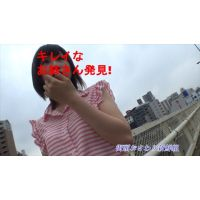 【個人撮影】禁断!!おさわり街頭インタビュー2nd♪長身モデル系美女、胸の膨らみ-2