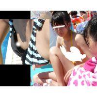 セット販売【胸チラ】【高画質】【水着】夏♪ぴちぴち水着の乙女たち☆〜その�+胸チラ特別編〜