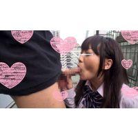 【個人撮影】天使過ぎる美少女!ガチで可愛い女子校生の屋上スリルフェラチオ!