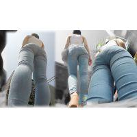 【FullHD】今年も発見!ツンツン系で長身美脚がガンガンスタイル魅せつけて闊歩する美巨尻女!