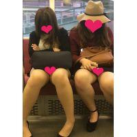 【完全版】ムチムチお姉さん2人 チラチラ&丸見え
