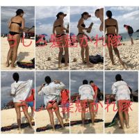 海外有名リゾートビーチ 極上美女のTバック 32枚
