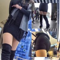 [Curly OL's Town Walk] ☆ Mini Skirt & Knee High Boots!