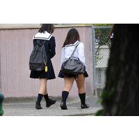 ぽっちゃりJK通学風景03