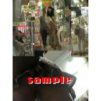 ★再販 ニーハイ&ヒラミニお姉さんの逆さパンチラ動画 390