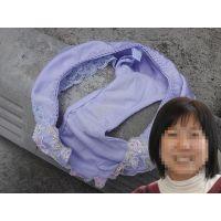 【悪戯】同僚の真面目な奥さんの紫のパンティー