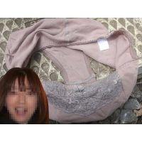 【悪戯】友達の奥さんが履いていたのは地味なブラウン系の綿パンティーだった...