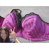 【悪戯】会社の可愛い後輩はド派手な紫色のDカップブラジャーだった...