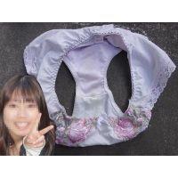 【悪戯】爽やかで可愛い友達の彼女が履いていた紫のパンティーはクロッチが汚れてた...