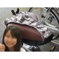 【悪戯】大学の可愛い後輩が履いていたヒョウ柄パンティーを通学に使う自転車に履かせてみた...