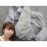 【悪戯】可愛い同級生の清楚な白いパンティーは恥ずかしくしっかりと黄色く汚れてた...