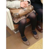 電車で見かけた可愛い女子大生の脚