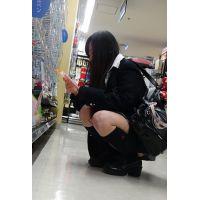 『店内コソ撮り』 買い物中の女子高生