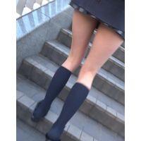 【低視線追跡動画�】通学中の超ミニJK