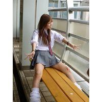 『激ミニ激カワ』街中の制服女子高生