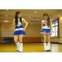文化祭チアダンス練習中JK