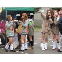 女子高生だらけ♪県立高校文化祭画像・校内撮影2010/10