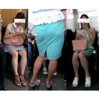 【動画】電車内の美脚・・・