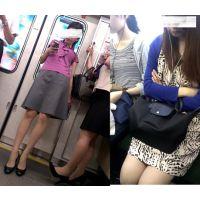 【動画】電車内の美脚OLたち・・・